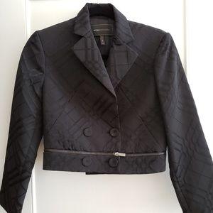 BCBG MaxAzria Black Plaid jacket